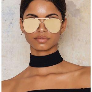 Le Specs Prince Gold Aviator Sunglasses